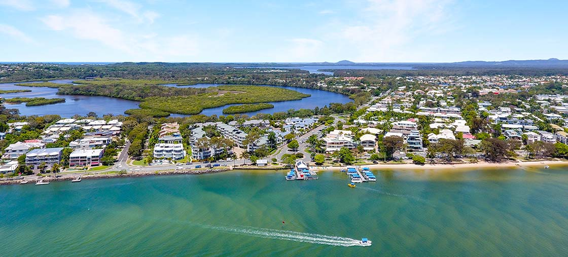 Arial view of Noosaville and Noosa River - Noosa Place Resort